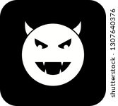 vector devil emoji icon  | Shutterstock .eps vector #1307640376