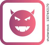 vector devil emoji icon  | Shutterstock .eps vector #1307642170