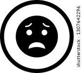 vector scared emoji icon    Shutterstock .eps vector #1307642296