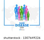 rare disease day poster or... | Shutterstock .eps vector #1307649226