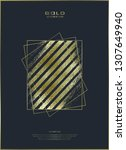 gold pattern. abstract golden... | Shutterstock .eps vector #1307649940