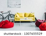 spacious furnished living room... | Shutterstock . vector #1307655529