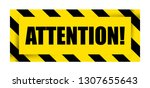 attention sign icon. vector... | Shutterstock .eps vector #1307655643