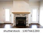 modern open spacious living... | Shutterstock . vector #1307661283