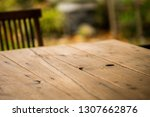 Old Wooden Tabletop With Some...