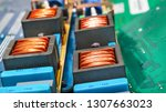 close up of copper coils and... | Shutterstock . vector #1307663023