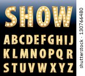 vector golden alphabet with... | Shutterstock .eps vector #130766480