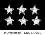 doodle set of black and white... | Shutterstock .eps vector #1307667310