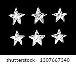 doodle set of black and white... | Shutterstock .eps vector #1307667340