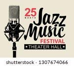 vector music poster or banner... | Shutterstock .eps vector #1307674066