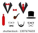 men's jackets. tuxedo with... | Shutterstock . vector #1307674633