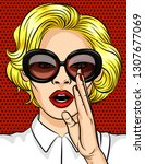 color illustration in pop art... | Shutterstock . vector #1307677069