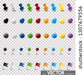 collection of different pin... | Shutterstock .eps vector #1307679556
