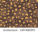 abstract geometrical leopard... | Shutterstock .eps vector #1307680393