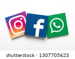 london  uk   february 8th 2019  ... | Shutterstock . vector #1307705623