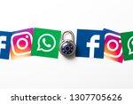 london  uk   february 8th 2019  ... | Shutterstock . vector #1307705626