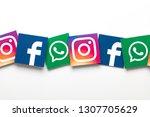 london  uk   february 8th 2019  ... | Shutterstock . vector #1307705629