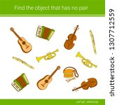 find the object that has no... | Shutterstock .eps vector #1307712559