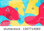 fun background pattern. red ... | Shutterstock .eps vector #1307714083