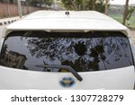 back side view of private car | Shutterstock . vector #1307728279