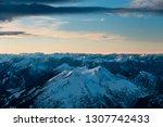 snowy mountain landscape.... | Shutterstock . vector #1307742433