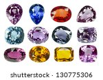 bright gems on a white... | Shutterstock . vector #130775306
