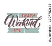 carnival calligraphic lettering ... | Shutterstock .eps vector #1307782633