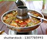 thai food sour soup in thai...   Shutterstock . vector #1307785993