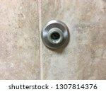 door stopper rubber bumper tile ... | Shutterstock . vector #1307814376