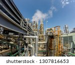 steam venting in petrochemical... | Shutterstock . vector #1307816653