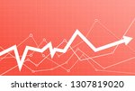 stock market arrow on a living... | Shutterstock .eps vector #1307819020