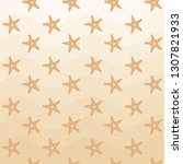 seamless sea star  starfish... | Shutterstock .eps vector #1307821933