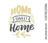 hand drawn lettering with... | Shutterstock .eps vector #1307822086