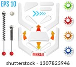 isolated pinball elements.... | Shutterstock .eps vector #1307823946