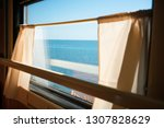 Sea Behind The Train Window....