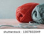 color thread for knitting. yarn ... | Shutterstock . vector #1307832049