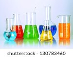 test tubes with colorful... | Shutterstock . vector #130783460