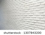 White Brick Wall Background...