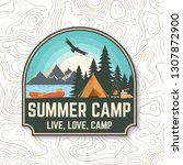 summer camp. vector. concept... | Shutterstock .eps vector #1307872900