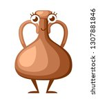 cartoon character design. clay... | Shutterstock .eps vector #1307881846