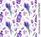 seamless pattern  lavender ...   Shutterstock . vector #1307896480