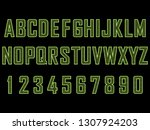 green hi tech font face vector...