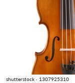 f hole on a violin | Shutterstock . vector #1307925310