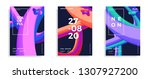 set of trendy abstract design... | Shutterstock .eps vector #1307927200