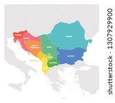 southeast europe region....   Shutterstock .eps vector #1307929900