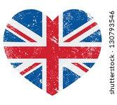 Uk Great Britain Retro Heart...