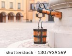 old well at castle courtyard in ...   Shutterstock . vector #1307939569
