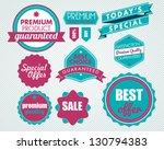 set of vector badges | Shutterstock .eps vector #130794383