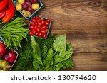 fresh farmers market fruit and... | Shutterstock . vector #130794620