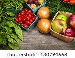 fresh farmers market fruit and... | Shutterstock . vector #130794668